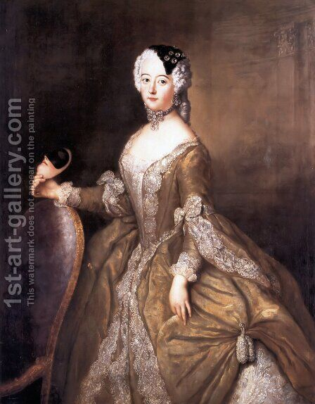 Luise Ulrike of Prussia, Queen of Sweden by Antoine Pesne - Reproduction Oil Painting