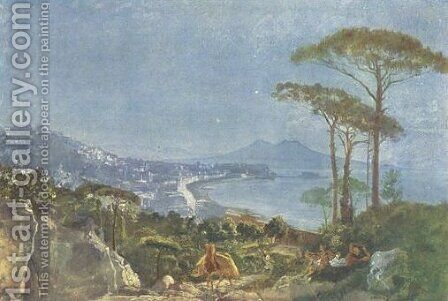 View of Naples from the road in Pozilippe by Alexander Ivanov - Reproduction Oil Painting