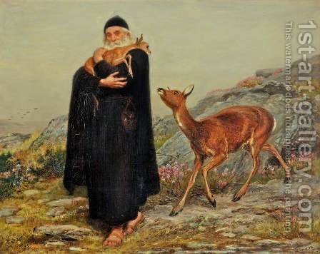 A Legend of Saint Patrick by Briton Rivière - Reproduction Oil Painting