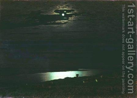 Moonlight Night on the Dnieper by Arkhip Ivanovich Kuindzhi - Reproduction Oil Painting