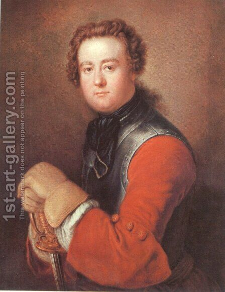 Georg Wenzeslaus von Knobelsdorff by Antoine Pesne - Reproduction Oil Painting