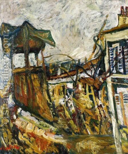 Parisian Suburb by Chaim Soutine - Reproduction Oil Painting