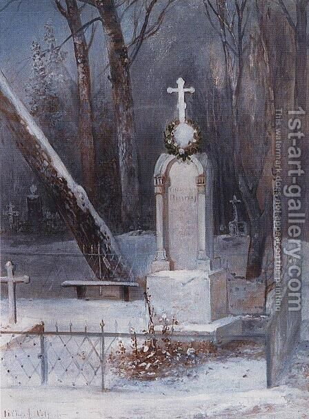 Grave 2 by Alexei Kondratyevich Savrasov - Reproduction Oil Painting