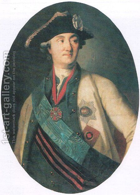 Portrait of Alexei Orlov by Carl-Ludwig Christinek - Reproduction Oil Painting