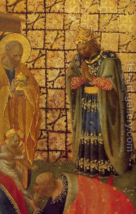 Adoration and Annunciation by Angelico Fra - Reproduction Oil Painting