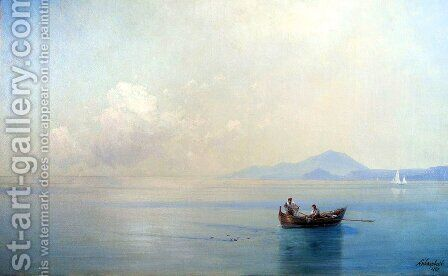 Calm Sea. Landscape with fishermen by Ivan Konstantinovich Aivazovsky - Reproduction Oil Painting