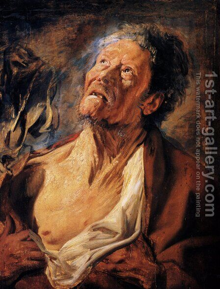 Job by Jacob Jordaens - Reproduction Oil Painting