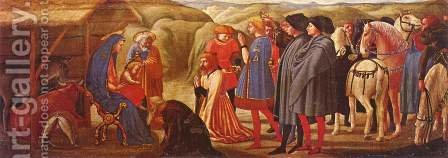 Adoration of the Knigs by Masaccio (Tommaso di Giovanni) - Reproduction Oil Painting