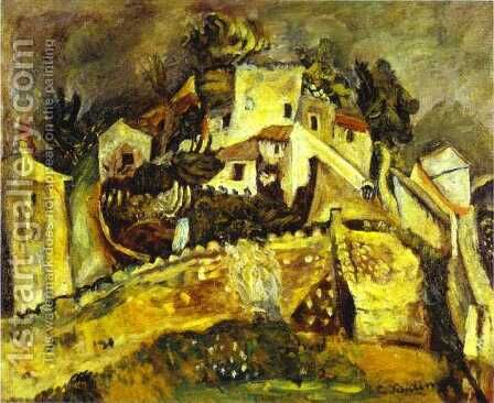 Landscape at Cagnes by Chaim Soutine - Reproduction Oil Painting