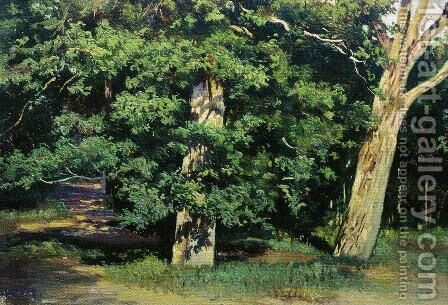 Trees 2 by Ivan Shishkin - Reproduction Oil Painting