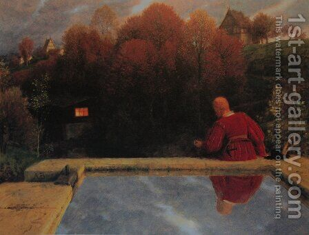 Returning home by Arnold Böcklin - Reproduction Oil Painting
