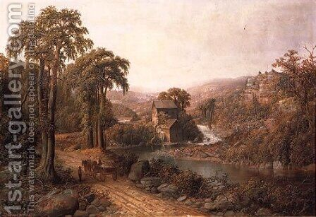 Old Mill and Stream by Homer Watson - Reproduction Oil Painting