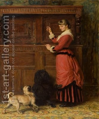 Cupboard Love by Briton Rivière - Reproduction Oil Painting