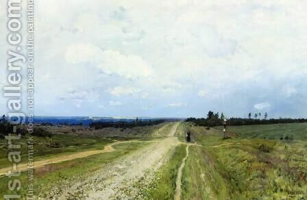The Vladimir's road by Isaak Ilyich Levitan - Reproduction Oil Painting