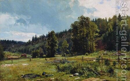 Meadow at the forest edge. Siverskaya by Ivan Shishkin - Reproduction Oil Painting