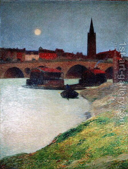 The New Bridge and Dalbade by Henri Martin - Reproduction Oil Painting