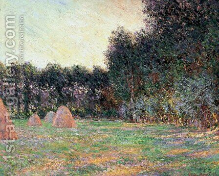 Meadow with Haystacks near Giverny by Claude Oscar Monet - Reproduction Oil Painting