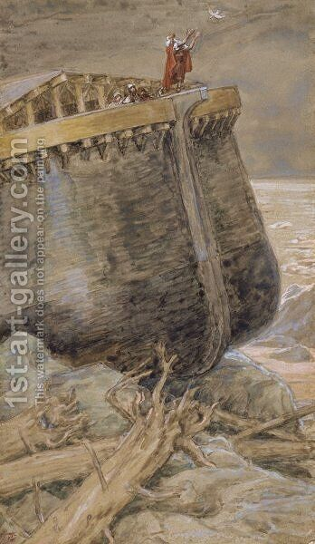 The Dove Returns to Noah by James Jacques Joseph Tissot - Reproduction Oil Painting