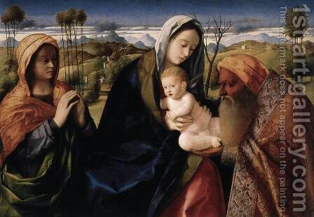 Holy Conversation by Giovanni Bellini - Reproduction Oil Painting