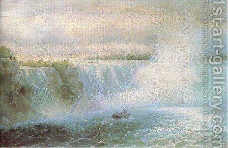 The Niagara waterfall by Ivan Konstantinovich Aivazovsky - Reproduction Oil Painting