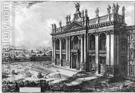 Vedute di Roma 37 by Giovanni Battista Piranesi - Reproduction Oil Painting
