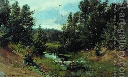 Forest Stream 4 by Ivan Shishkin - Reproduction Oil Painting