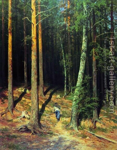 Pine forest 4 by Ivan Shishkin - Reproduction Oil Painting