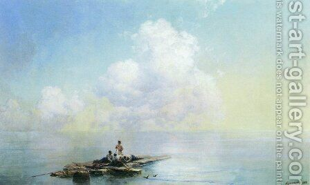 Morning after the storm by Ivan Konstantinovich Aivazovsky - Reproduction Oil Painting