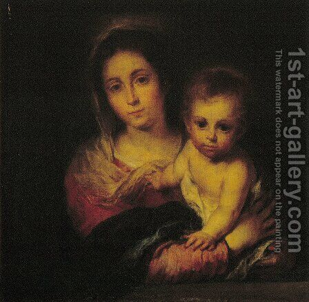 Madonna with a Napkin by Bartolome Esteban Murillo - Reproduction Oil Painting