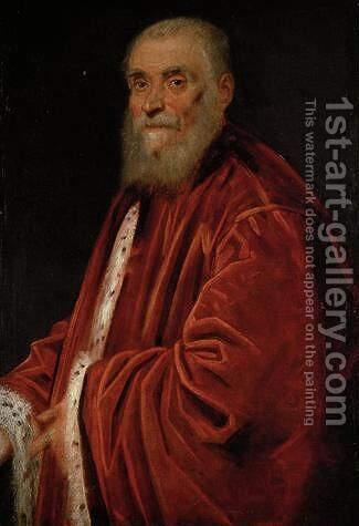 Portrait of Senator Marco Grimani by Jacopo Tintoretto (Robusti) - Reproduction Oil Painting