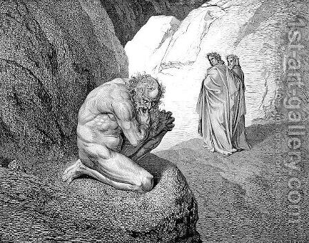 Pluto and Virgil by Gustave Dore - Reproduction Oil Painting