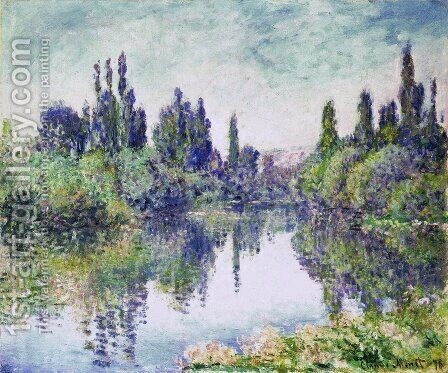 Morning on the Seine, near Vetheuil by Claude Oscar Monet - Reproduction Oil Painting