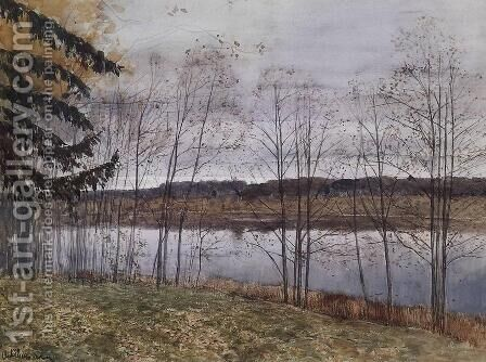 Autumn 2 by Isaak Ilyich Levitan - Reproduction Oil Painting