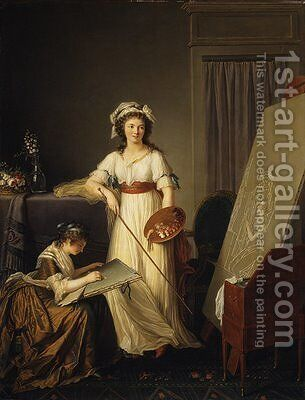 Atelier of a painter by Marie-Denise Villers - Reproduction Oil Painting