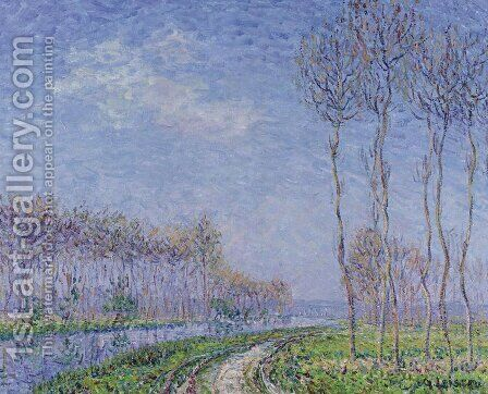 Trees by the River 2 by Gustave Loiseau - Reproduction Oil Painting