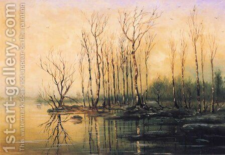 Dimensions and material of painting by Alexei Kondratyevich Savrasov - Reproduction Oil Painting