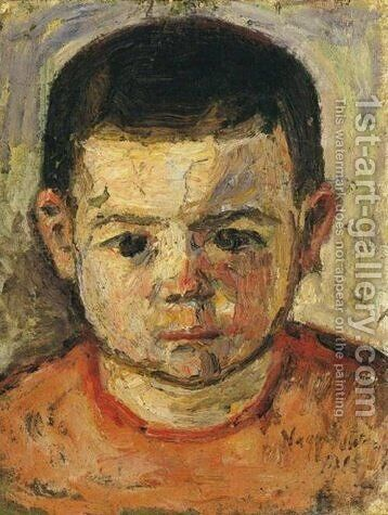 Little boy by Istvan Nagy - Reproduction Oil Painting