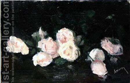 Pink Roses by Ion Andreescu - Reproduction Oil Painting