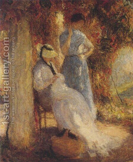 Sewing at Marquayrol by Henri Martin - Reproduction Oil Painting