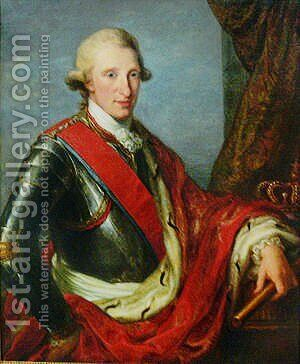 Portrait of Ferdinand I of the Two Sicilies by Angelica Kauffmann - Reproduction Oil Painting