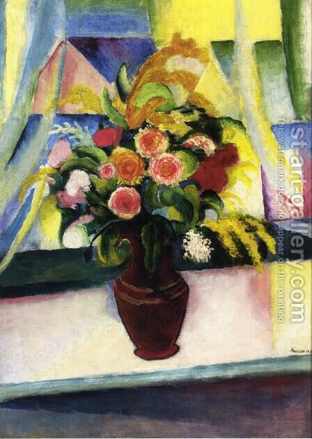 Untitled by August Macke - Reproduction Oil Painting