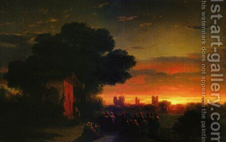 View of Crimea at sunset by Ivan Konstantinovich Aivazovsky - Reproduction Oil Painting