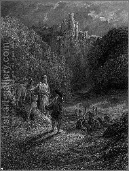 Idylls of the King 5 by Gustave Dore - Reproduction Oil Painting