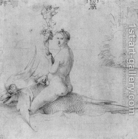 Venus on a dolphin by Albrecht Durer - Reproduction Oil Painting