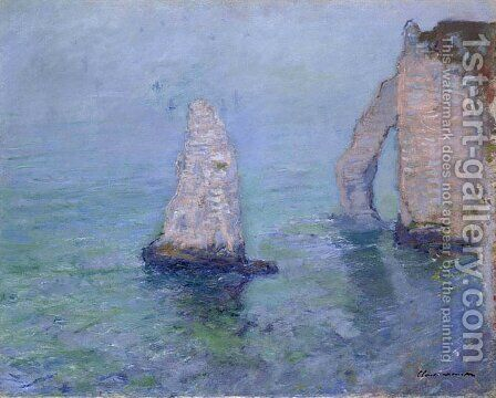 The Rock Needle and Porte d'Aval, Etretat by Claude Oscar Monet - Reproduction Oil Painting