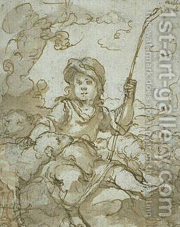 The Good Shepherd Child by Bartolome Esteban Murillo - Reproduction Oil Painting
