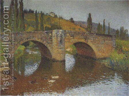 The Bridge in Labastide du Vert 3 by Henri Martin - Reproduction Oil Painting