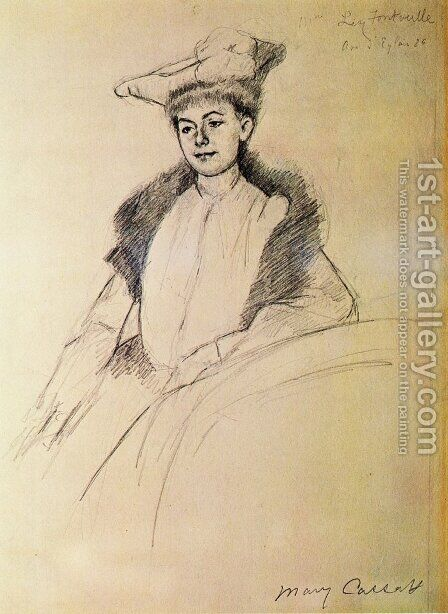 Portrait of Mme. Fontveille by Mary Cassatt - Reproduction Oil Painting