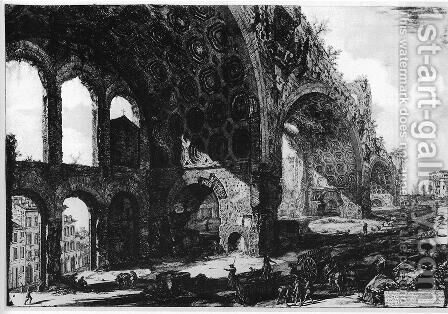 Vedute di Roma 40 by Giovanni Battista Piranesi - Reproduction Oil Painting
