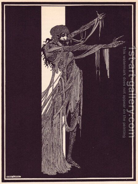 Tales of Mystery and Imagination by Edgar Allan Poe 6 by Harry Clarke - Reproduction Oil Painting
